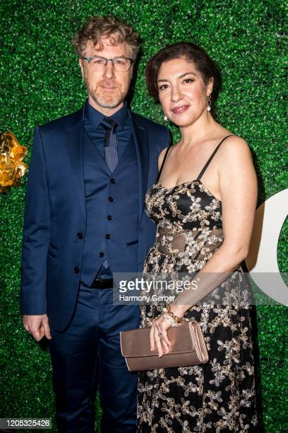 Earle Monroe and Arianna Ortiz attend the 3rd Annual Griot Gala Oscars After Party 2020 Hosted By Michael K. Williams at Ocean Prime on February 09,...