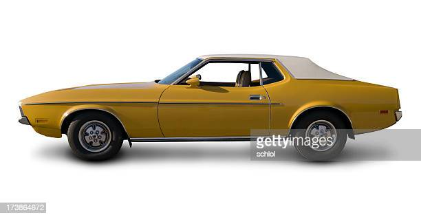 early 1970's ford mustang - 1970s muscle cars stock pictures, royalty-free photos & images