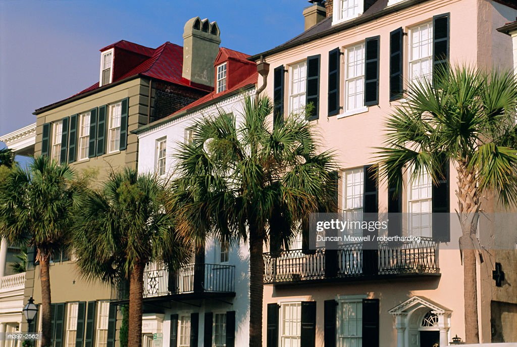 Early 19th century town houses, Charleston, South Carolina, USA, North America : Stockfoto