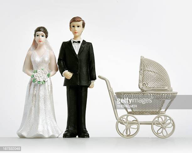 early adopters - wedding cake figurine stock pictures, royalty-free photos & images