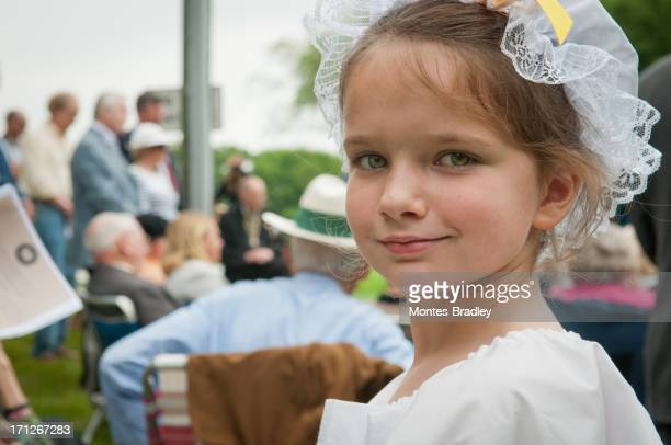 early american girl - revolutionary war soldier stock photos and pictures