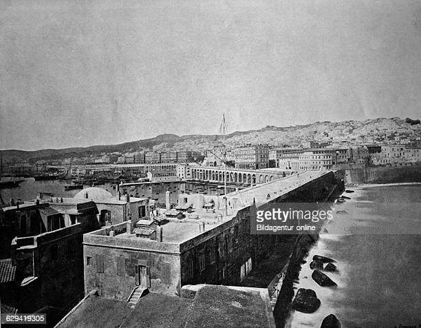 Early autotype of algiers algeria historical photograph 1884