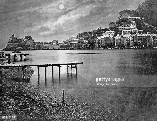 Early autotype of portovenere today porto venere unesco world heritage site liguria italy historical picture 1884