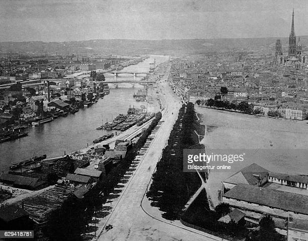 Early autotype of rouen seinemaritime france historical photo 1884