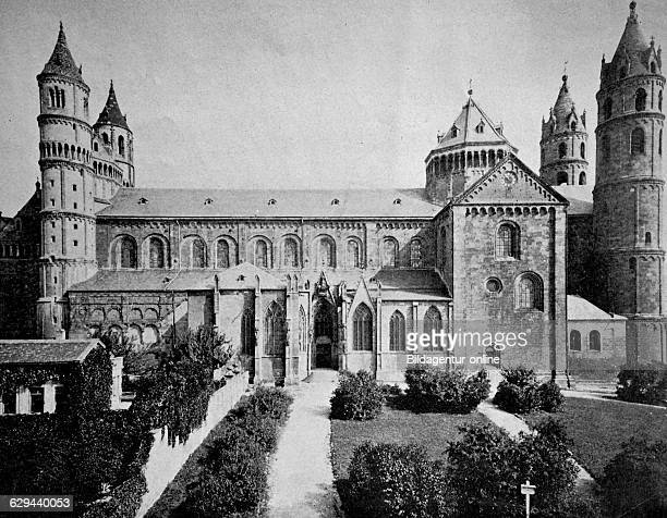 Early autotype of the cathedral of worms rhinelandpalatinate germany 1880