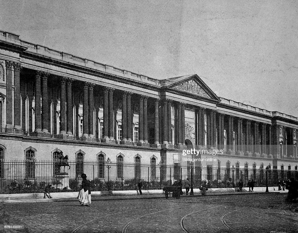 Early Autotype Of The Louvre Palace Paris France 1880 News Photo Getty Images