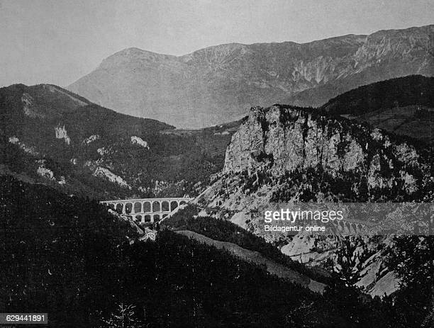 Early autotype of the semmering pass austria historical photographs 1884