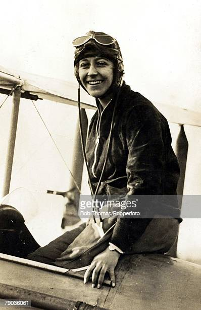 Early Aviation Circa 1930's Amy Johnson British aviator She made a famous flight to Australia in 1930