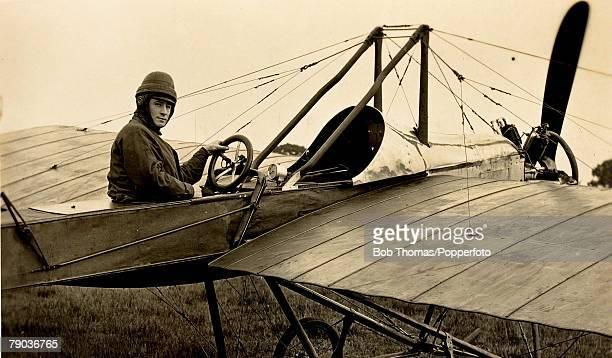 Early Aviation Mr Norman C Spratt in the Deperdussin monoplane circa 1915