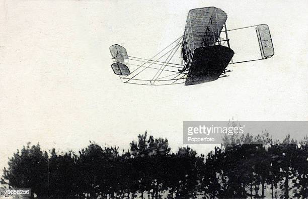 21st September 1908,Wilbur Wright beating all previous records at Camp D'Avours, Le Mans, France, In his aeroplane he covered 90 kilometres in 1 hour...