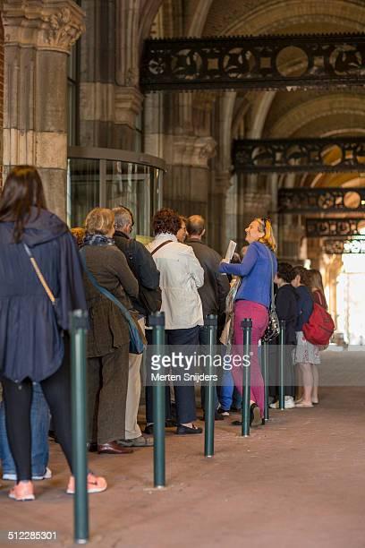 Early birds at Rijksmuseum opening queue
