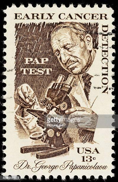 米国癌検出郵便切手早期 - 頚部細胞 ストックフォトと画像