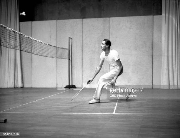 Early CBS television broadcast of an indoor badminton tournament New York NY Image dated November 7 1941