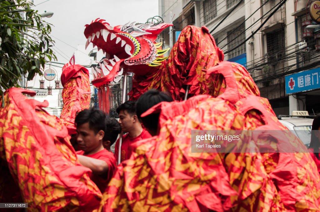 Chinesisches Neujahr in Chinatown Manila