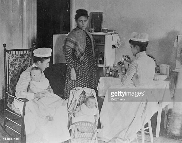 Early children's ward in Bellevue Hospital New York City