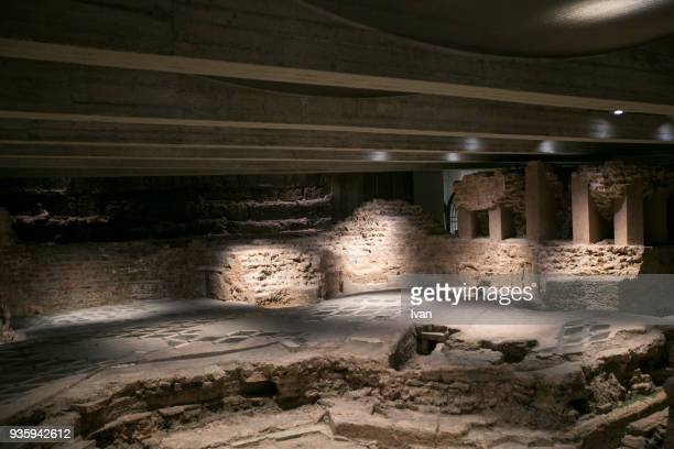 Early Christian foundations under the Chapel of St Aquilinus, Basilica of St Lawrence, Milan, Lombardy, Italy, Roman civilization, 4th-5th century AD