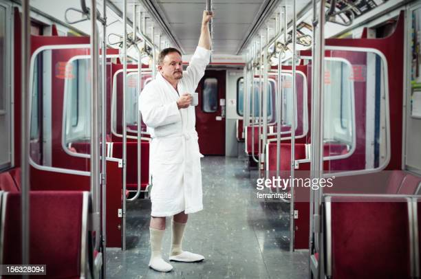 early commuter on the train - bizarre stock pictures, royalty-free photos & images