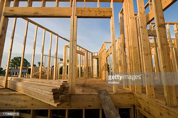 Early construction of a new home being built