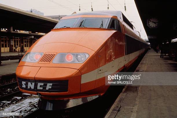 Early Days of French TGV Train