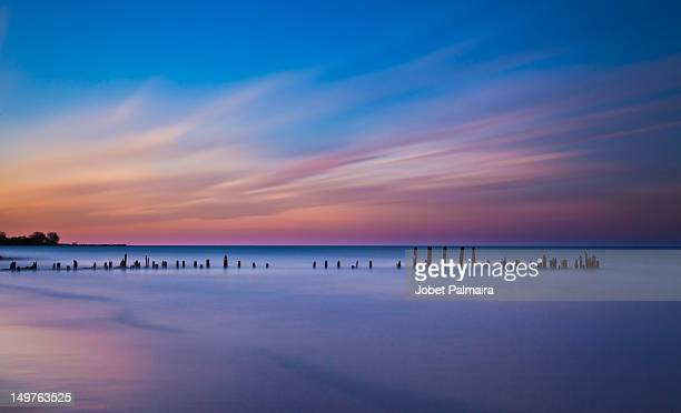 early evening - evanston illinois stock photos and pictures