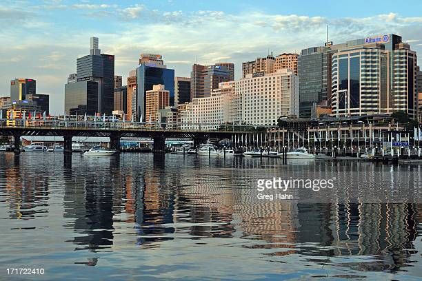 CONTENT] Early evening view of Sydney from Darling Harbour area