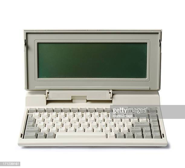 Early laptop computer with attached keyboard