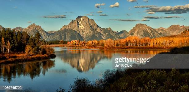 early light in wyoming at oxbow bend - grand teton national park stock pictures, royalty-free photos & images