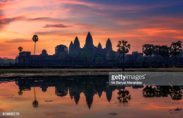 early morning angkor wat - angkor wat stock pictures, royalty-free photos & images