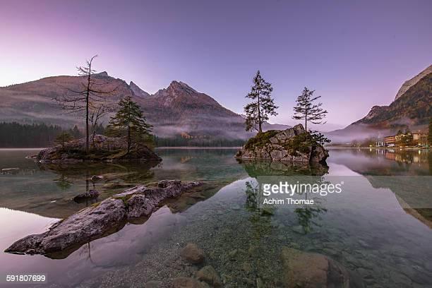 Early morning at Lake Hintersee Bavaria