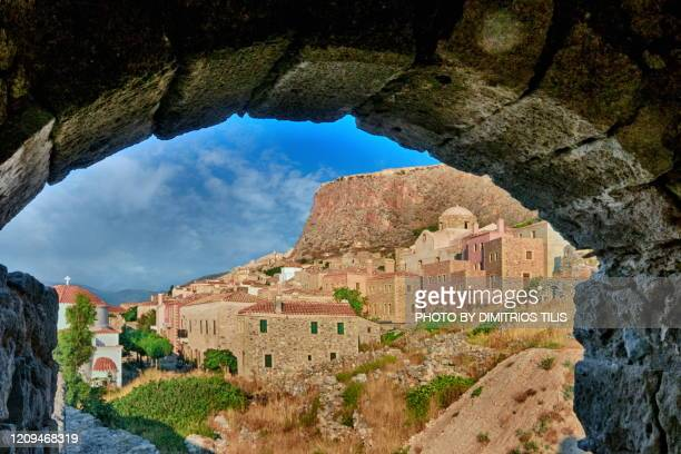 early morning at monemvasia - dimitrios tilis stock pictures, royalty-free photos & images