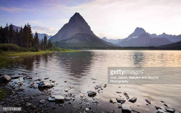 Early Morning at Swiftcurrent Lake at Glacier National Park, Montana