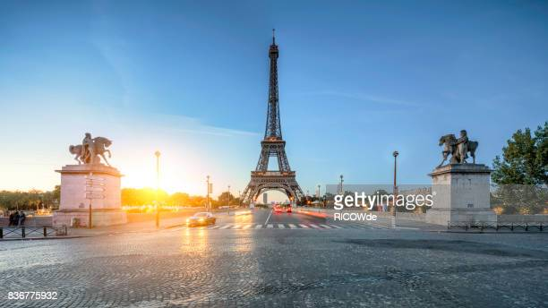Early morning at the Eiffel Tower