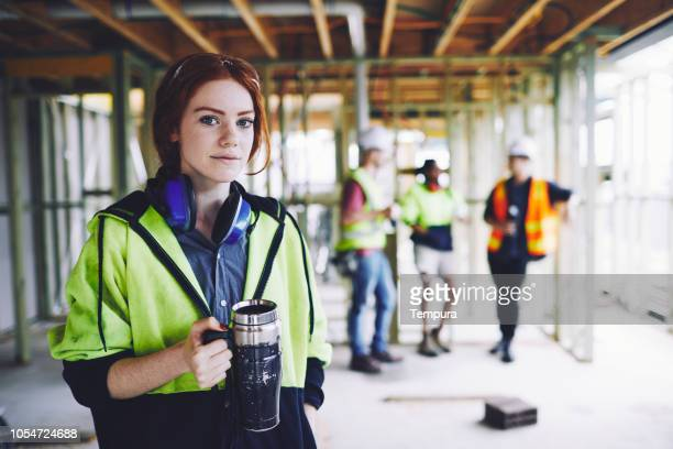 early morning breakfast in the construction site. - incidental people stock pictures, royalty-free photos & images
