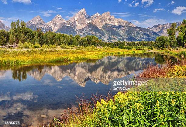 Early morning color at Schwabacher Landing
