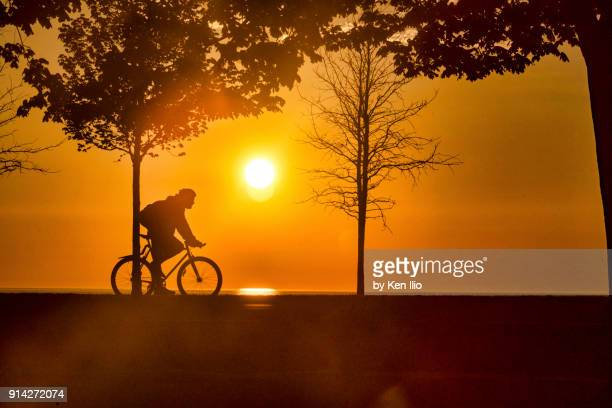 Early morning cyclist