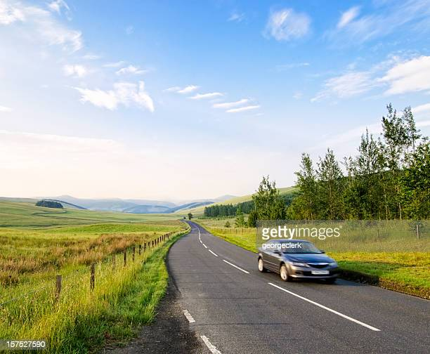 early morning drive - britain stock pictures, royalty-free photos & images