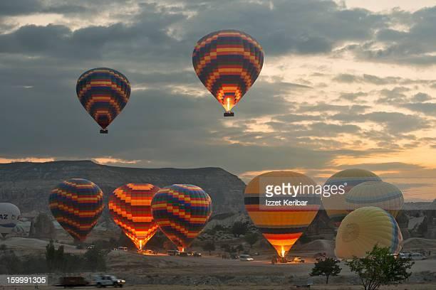 Early morning hot air balloons in Cappadocia