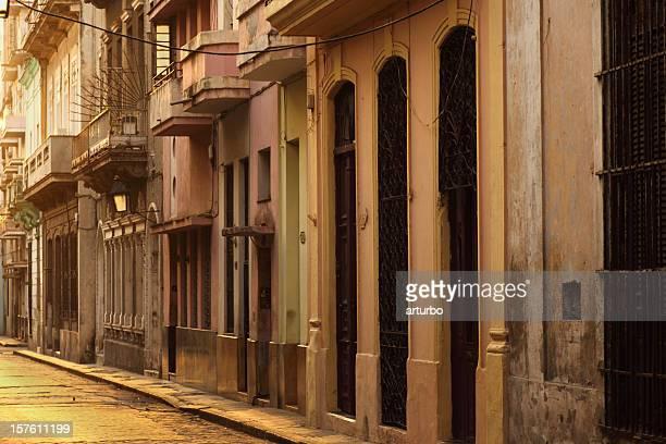 early morning in a Havana Cuba street