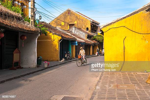Early morning in ancient town of Hoi An
