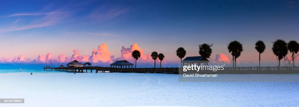 Early morning in Clearwater beach - Florida : Stock Photo
