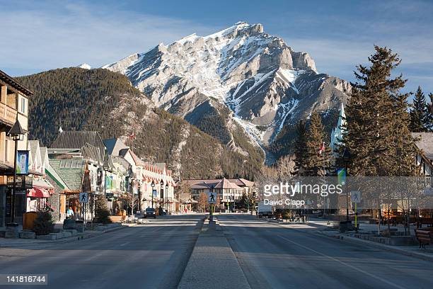Early morning in the town of Banff, Banff National Park, the Canadian Rockies, Alberta, Canada, North America.