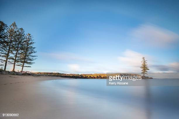 early morning light at emily bay - coastline stock pictures, royalty-free photos & images