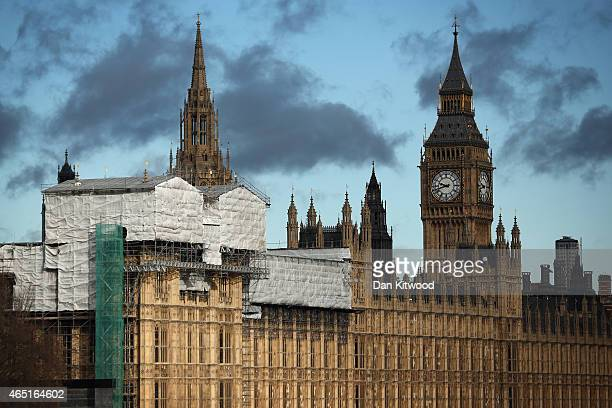 Early morning light catches the Palace of Westminster on March 3 2015 in London England John Bercow the Speaker of the House of Commons has warned...