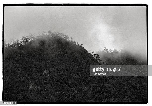 Early morning mist shrouds the rugged mountains and forests of Pang Ma Pa in northern Thailand This region which borders Shan State in Burma is home...