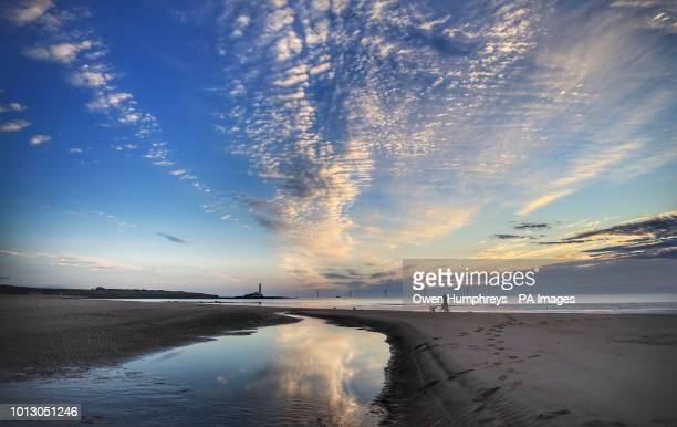 Early morning on the beach at Whitley Bay North Tyneside There was rain in south east England overnight with forecasters saying that high pressure is...
