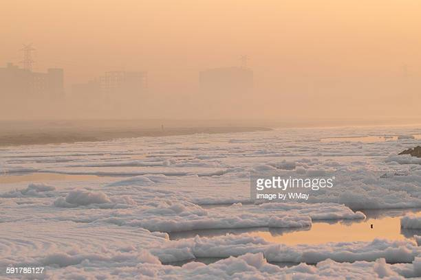 Early morning on the Yamuna River