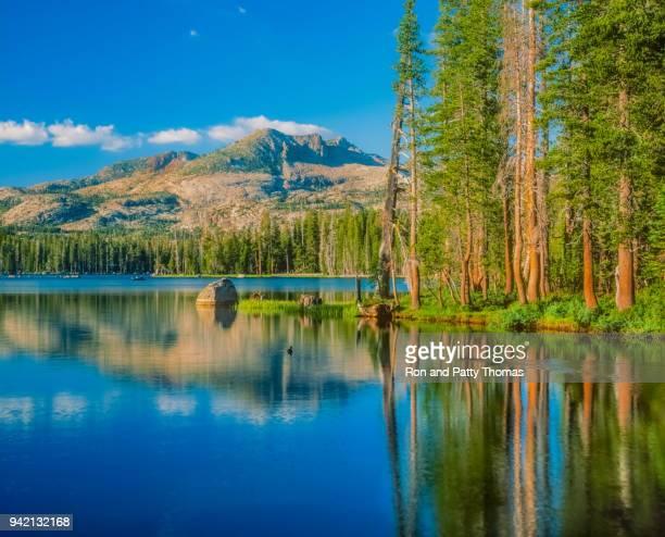 Early morning on Wrights Lake, near Lake Tahoe, California (P)