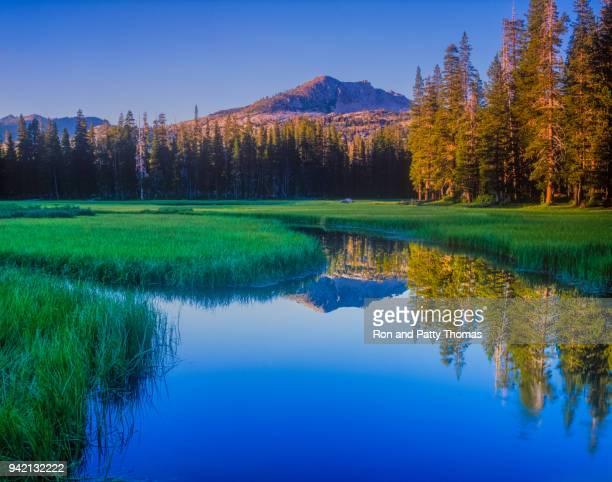 Early morning on Wrights Lake, near Lake Tahoe, California