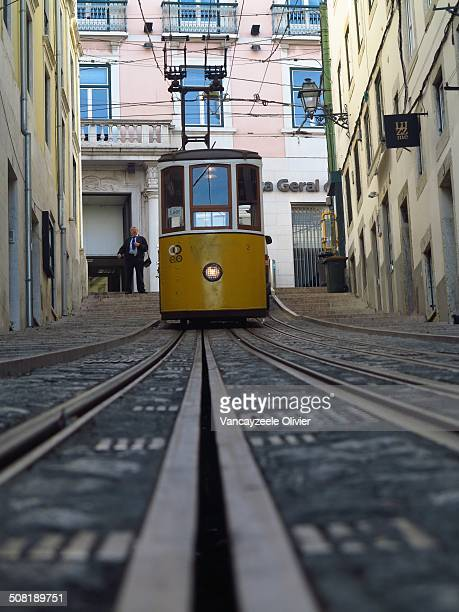 Early morning, one of three funicular Lisbon awaits its first passengers. Picture taken in Barrio Alto, one of the oldest and most authentic...