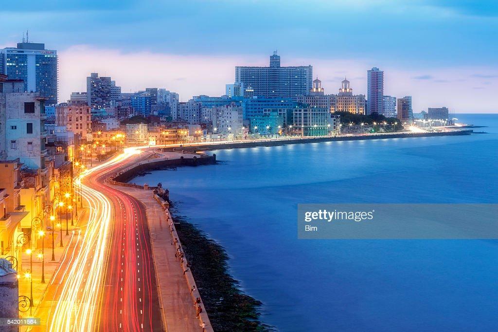 Early Morning Over Malecon, Havana, Cuba : Stock Photo